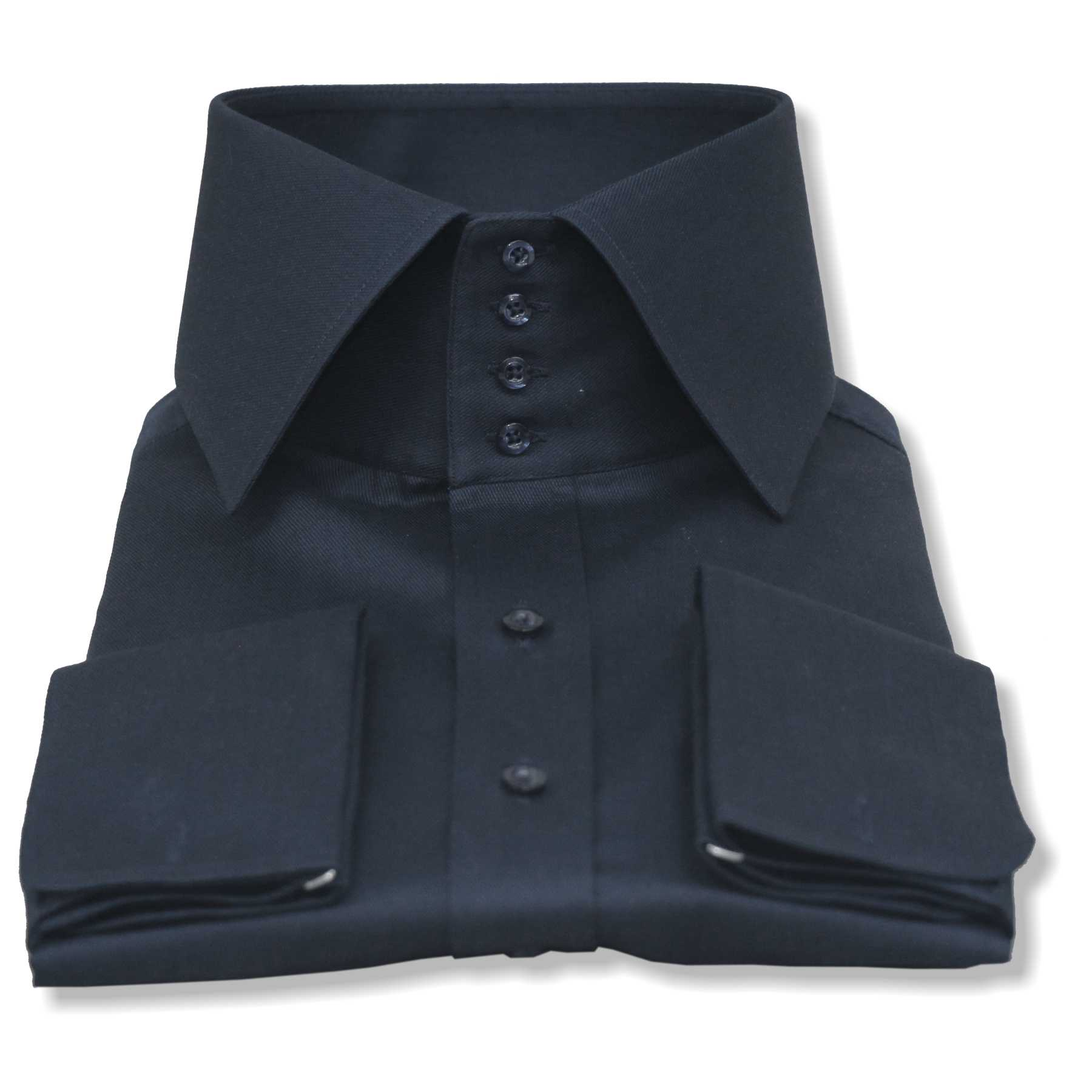 "High collar shirt 3/"" band 4 buttons Blue Gingham Checks 100/% Cotton shirts Gents"